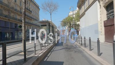 Marseille City At Day 12 Of Covid-19 Lockdown, France - Ground Video