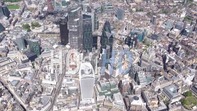 Tours De La Ville De Londres Pendant Le Confinement Du Au Covid-19, Londres Filmé Par Hélicoptère