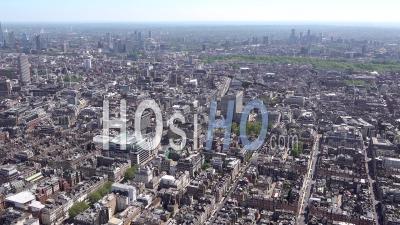 New Bond Street, Regent Street à South Tamise Et London Eye Pendant Le Confinement Du Au Covid-19, Londres, Filmé Par Hélicoptère