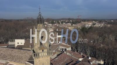 Village De Grans En Provence En Hiver - Vidéo De Drone