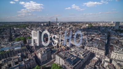 Establishing Aerial View Of London Uk, London Skyline, Mayfair West End, United Kingdom - Video Drone Footage