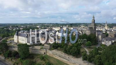 Aerial View Of Dinan - Video Drone Footage