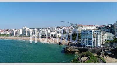 Aerial View Of Biarritz - Video Drone Footage