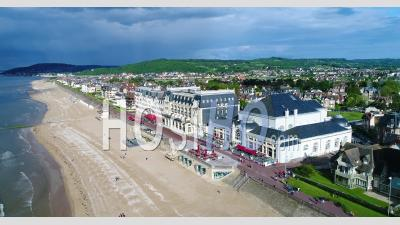 Aerial View Of Cabourg In Normandy - Video Drone Footage
