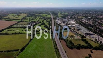 Bank Of England Printing Works And M11, Loughton, Filmed By Helicopter