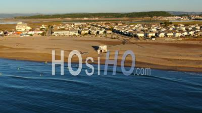 Chalets Of Gruissan, Historical Village, Seen By Drone