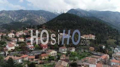 Vernet Les Bains Village - Video Drone Footage