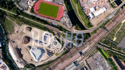 Imagerie Verticale Du Stade Olympique, Stratford, Londres, Filmé Par Pa-34