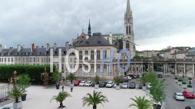 The Basilique Saint-Epvre At Nancy - Video Drone Footage
