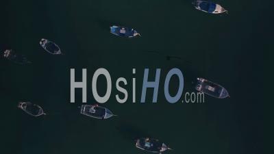 Bateaux De Pêche à Fort Gray, Guernesey, Channel Islands, Royaume-Uni. Prise De Vue Drone