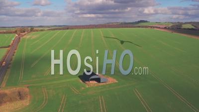 Campagne Agricole Rurale Dans Le Dorset, En Angleterre. Prise De Vue Drone