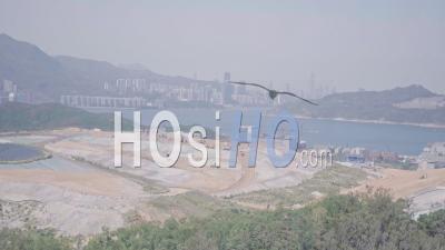 Décharge, Un Problème Environnemental à L'origine Du Changement Climatique, Vu à Hong Kong. Vidéo Aérienne Par Drone