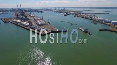Le Havre Harbor, Viewed By Drone