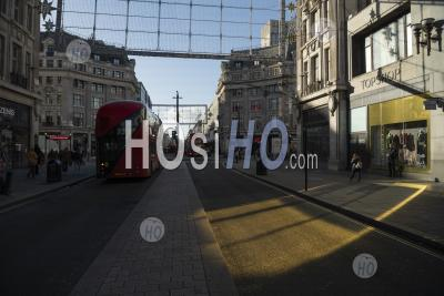 Topshop, Part Of Arcadia Group, With The Shop Closed After Filing For Bankruptcy In Covid-19 Coronavirus Lockdown On Oxford Street, A Famous Shopping Road In London, England, Europe