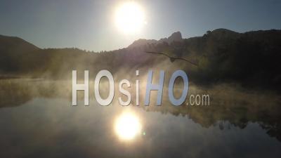 Lac Esterel Var Provence Alpes Côte D'azur France Brouillard Printemps - Vidéo Drone