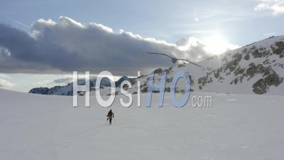 Isola 2000 Alpes-Maritimes Provence Alpes Cote D'azur Parc Du Mercantour Winter - Video Drone Footage
