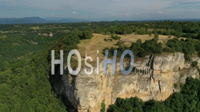 Larina Plateau Archaeological Site, France, Drone Point Of View