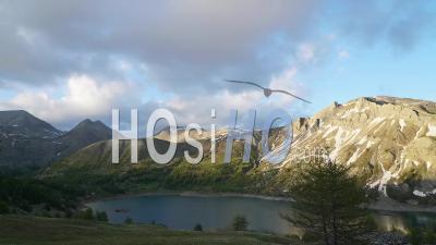 Timelapse Lac D Allos Provence Alpes Cote D Azur France Lake Parc Du Mercantour Sunset Spring