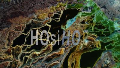 Dallol In The Danakil Depression North Of Ethiopia - Video Drone Footage