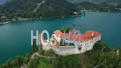 Bled Castle, Slovenia - Video Drone Footage