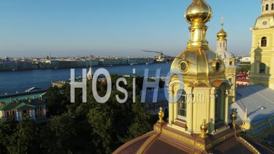 Saints Peter And Paul Cathedral, Saint Petersburg - Video Drone Footage