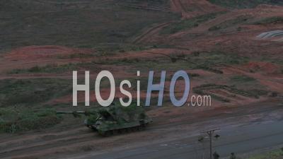 T-14 Armata Russian Main Battle Tank - Video Drone Footage