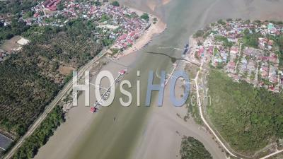 Aerial View Kuala Muda Which Is Boundary - Video Drone Footage