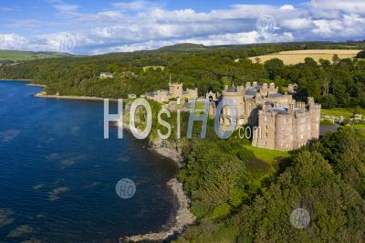 Aerial View Of Culzean Castle In Ayrshire, Scotland, Uk - Aerial Photography
