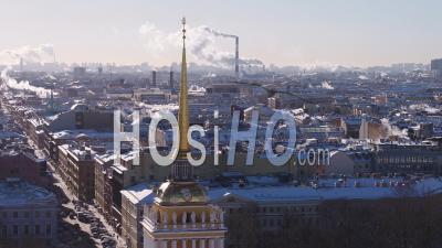 Admiralty, Saint Petersburg - Video Drone Footage
