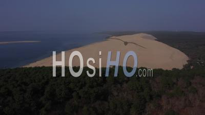 Aerial View Dune Du Pilat, Arcachon Basin, France - Video Drone Footage