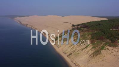 Aerial View Dune Du Pilat, Arcachon Basin, France - Video Drone Footage