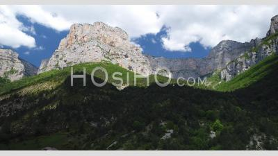Cirque D'archiane In The Vercors Massif, Drome, France, Viewed From Drone