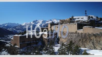 The Fort Du Randouillet, Unesco World Heritage, Above Briancon, Hautes-Alpes, France, Viewed From Drone