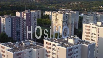 Suburb Corbeil-Essonnes Buildings - Video Drone Footage