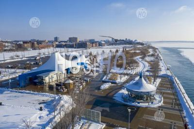 Milliken State Park In Detroit - Aerial Photography