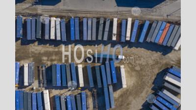 Intermodal Rail Yard - Aerial Photography