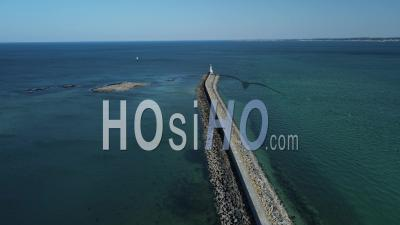 Aerial View Of The Croisic Lighthouse , Pays De Loire, France