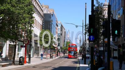 April 2020 First Lockdown Covid 19 Pandemic. Oxford Street London