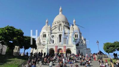 Basilica Sacre Coeur At Montmartre In Paris