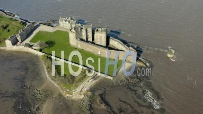 Blackness Castle In Scotland - Video Drone Footage