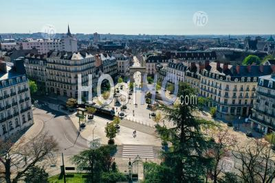 The Square Darcy In Dijon Downtown - Aerial Photography