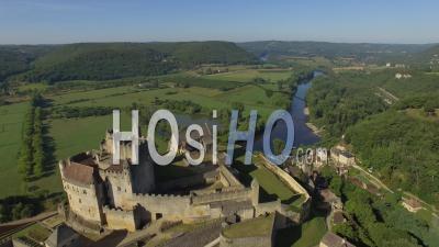 Beynac Castle - Video Drone Footage