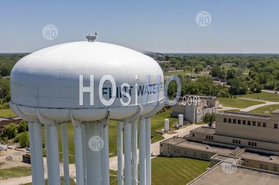 Flint Water Plant - Aerial Photography