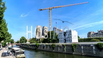 Timelapse De Notre Dame De Paris Et Chantier De Construction