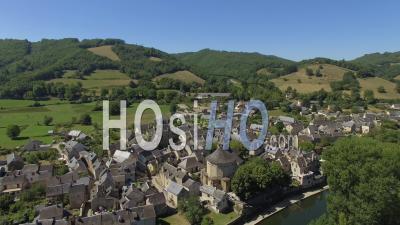 The Village Of Sainte-Eulalie-D'olt - Video Drone Footage