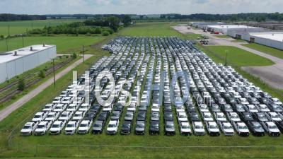 Chip Shortage Leaves Gm Trucks Unfinished - Video Drone Footage