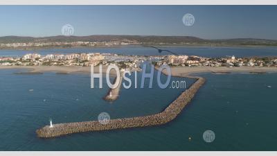 Photo Drone De Frontignan Plage En Ete