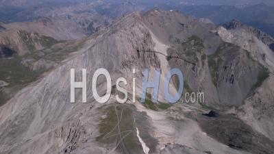 The Col Du Chaberton, The Clot Des Morts And The Pointe Des Trois Scies, Hautes-Alpes, France, Viewed From Drone