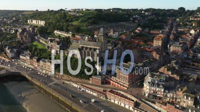 Church Of Saint-Jacques Du Treport - Video Drone Footage