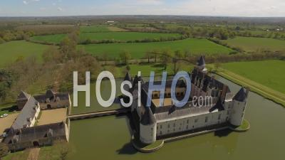 Château Du Plessis-Bourré Seen By Drone In Spring